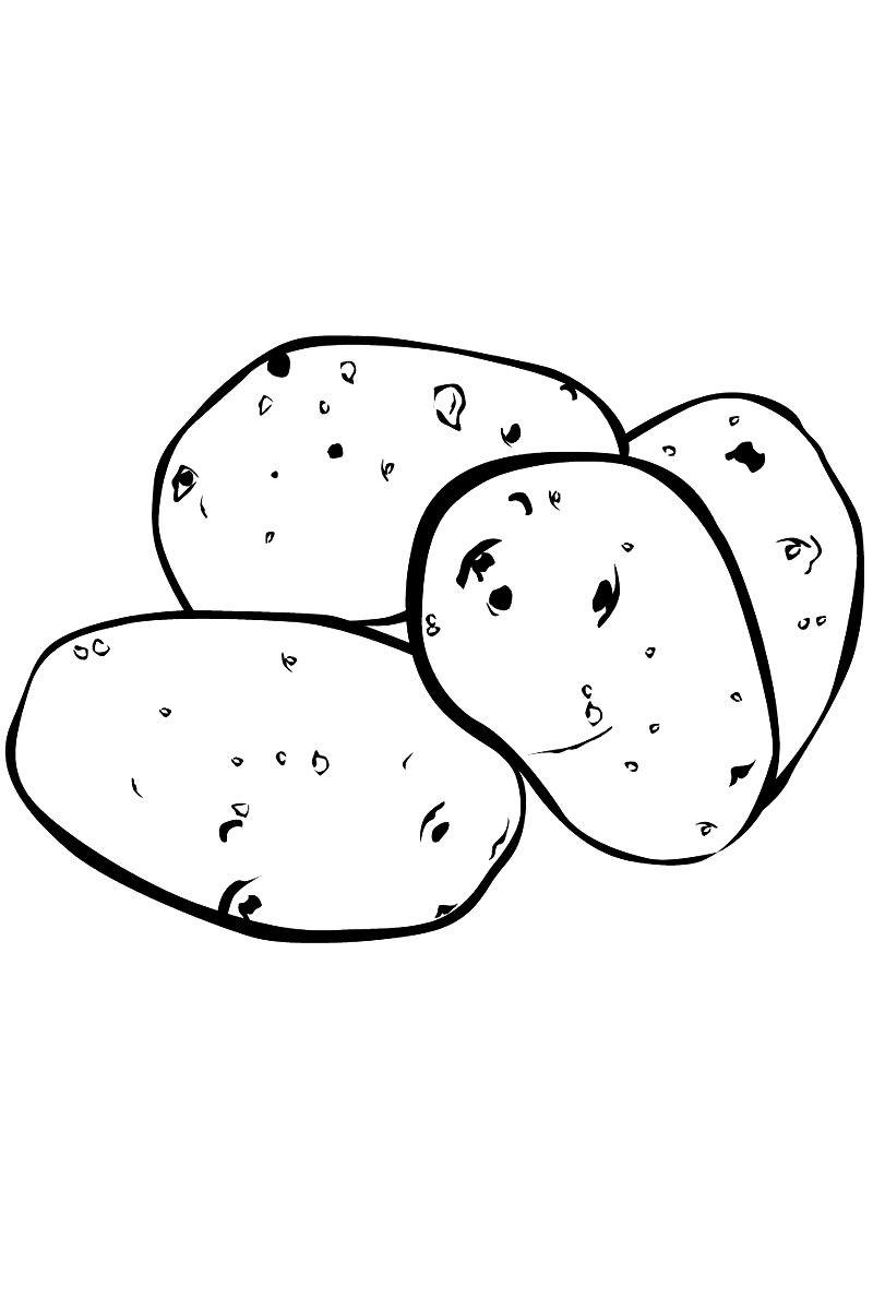 Раскраска картошка | Раскраски для детей распечатать ...