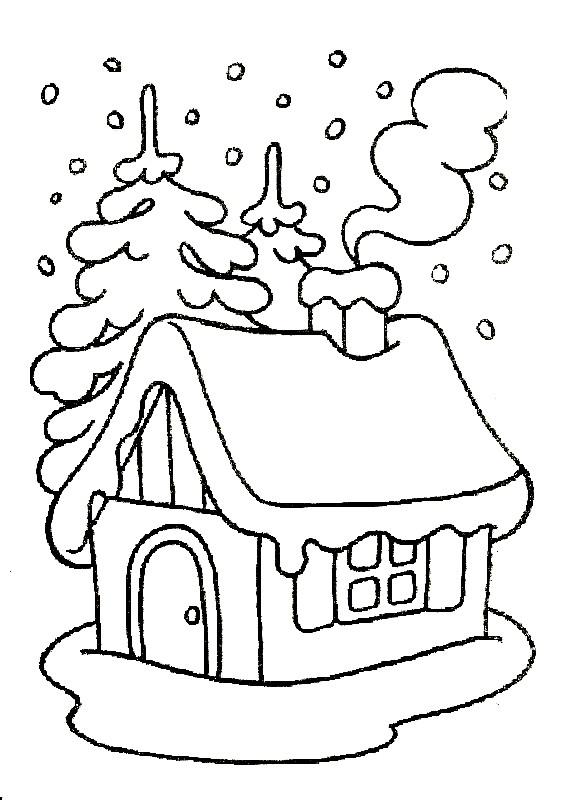 Раскраска зимушка зима