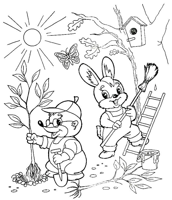 ВЕСНА | Раскраски для детей распечатать бесплатно в формате А4