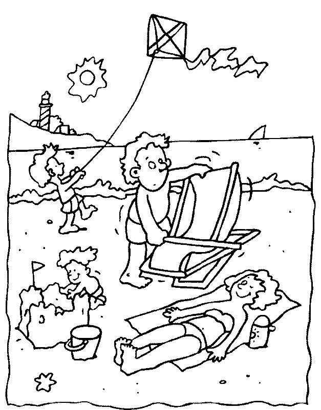 Раскраска отдых летом на море