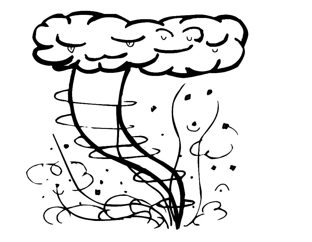 Раскраска торнадо