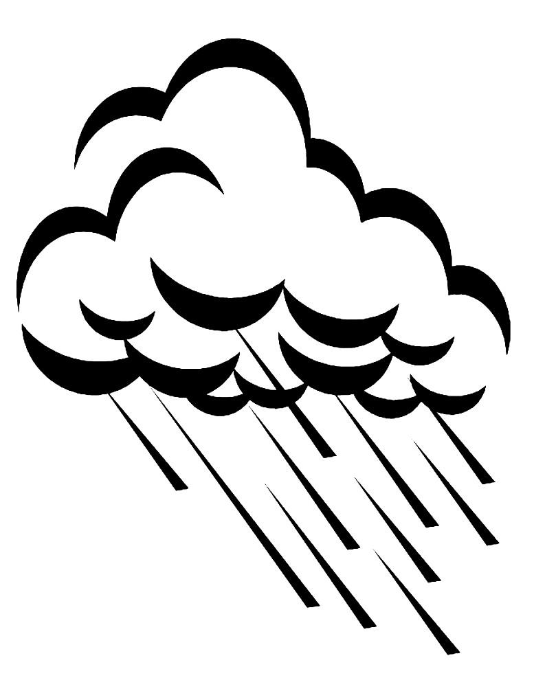 Раскраска дождь