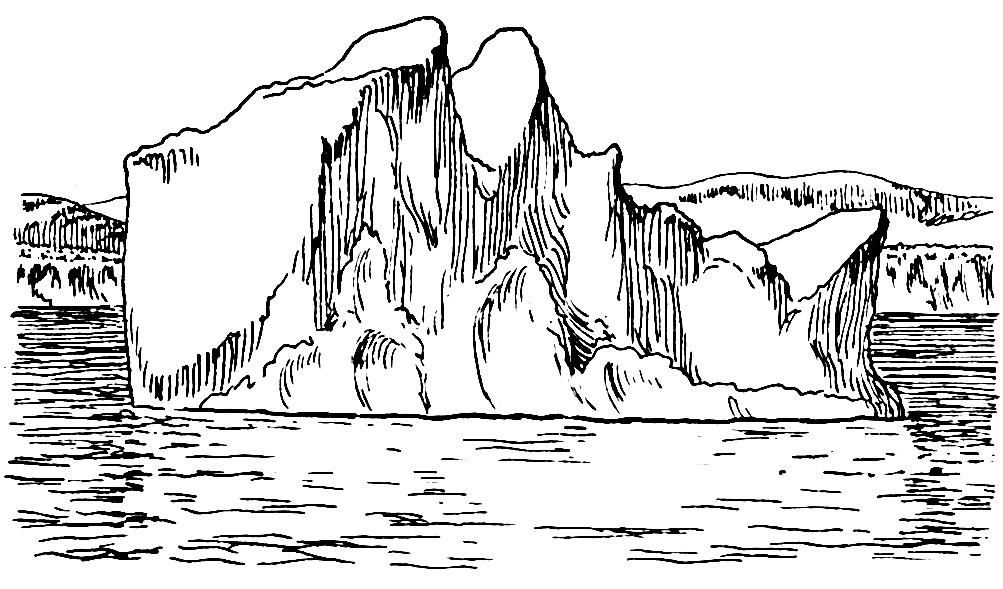 Раскраска айсберг