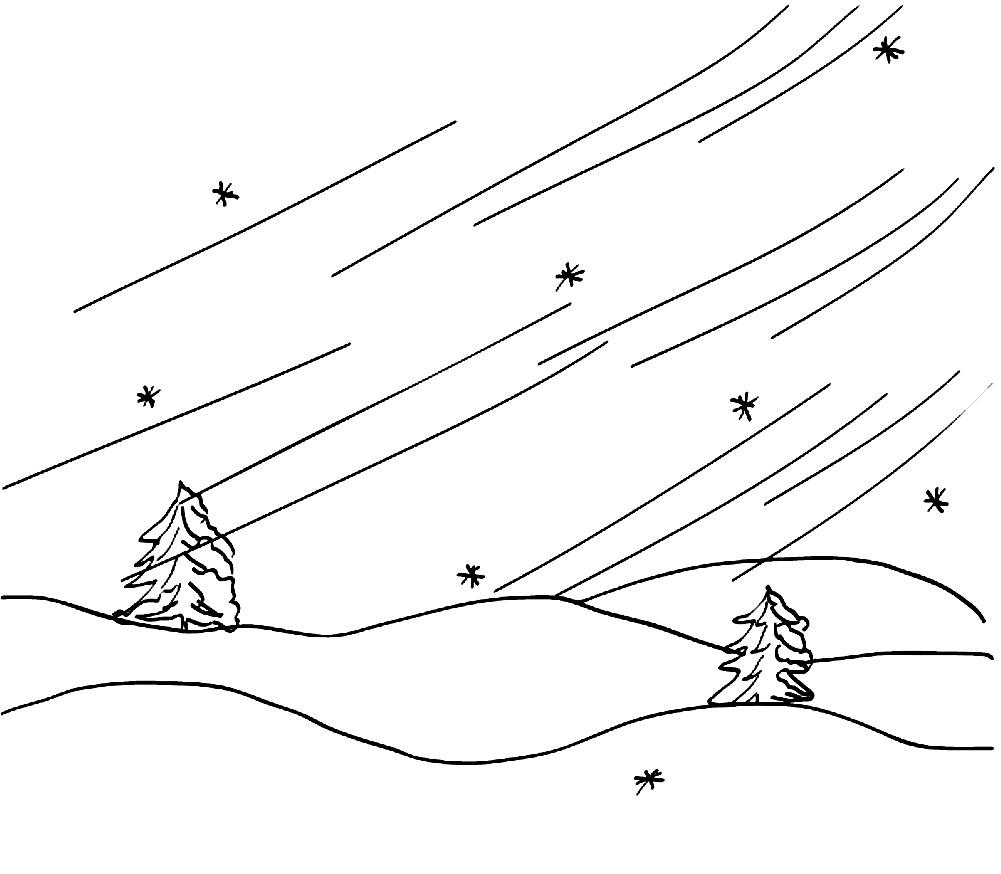 Раскраска природные явления зимой
