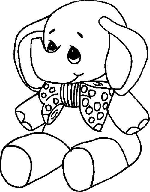 Раскраска игрушечный слон