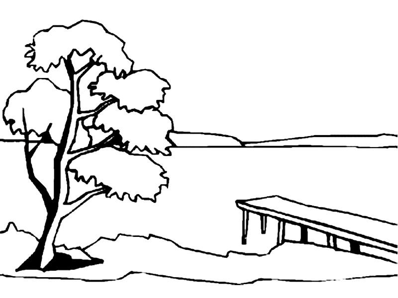 Раскраска на берегу