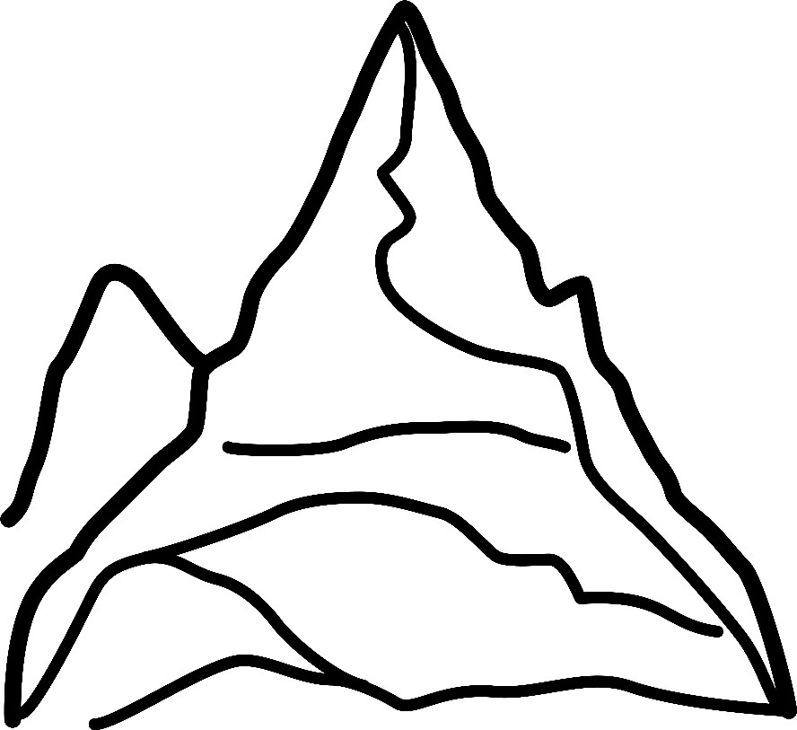 Раскраска гора