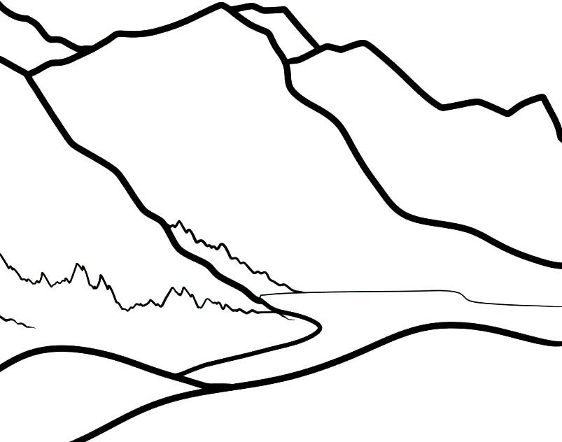 Раскраска горы Алтая