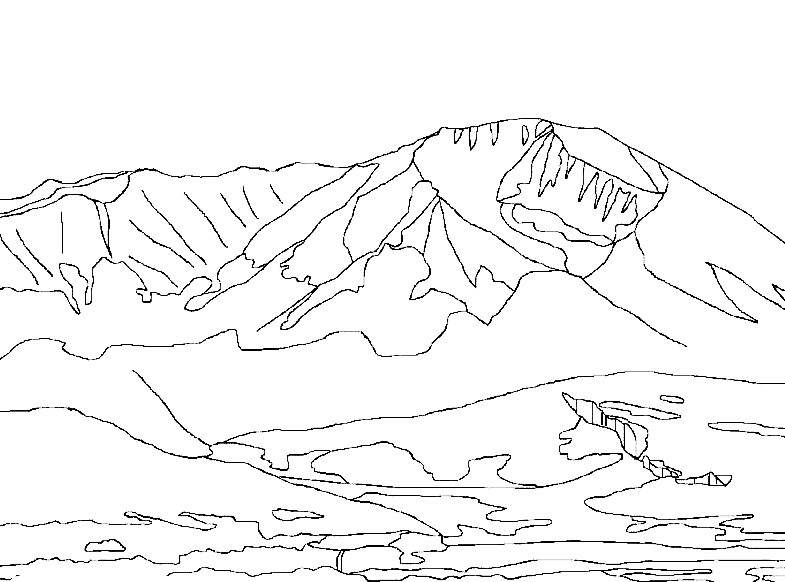 Раскраска горы Кавказа