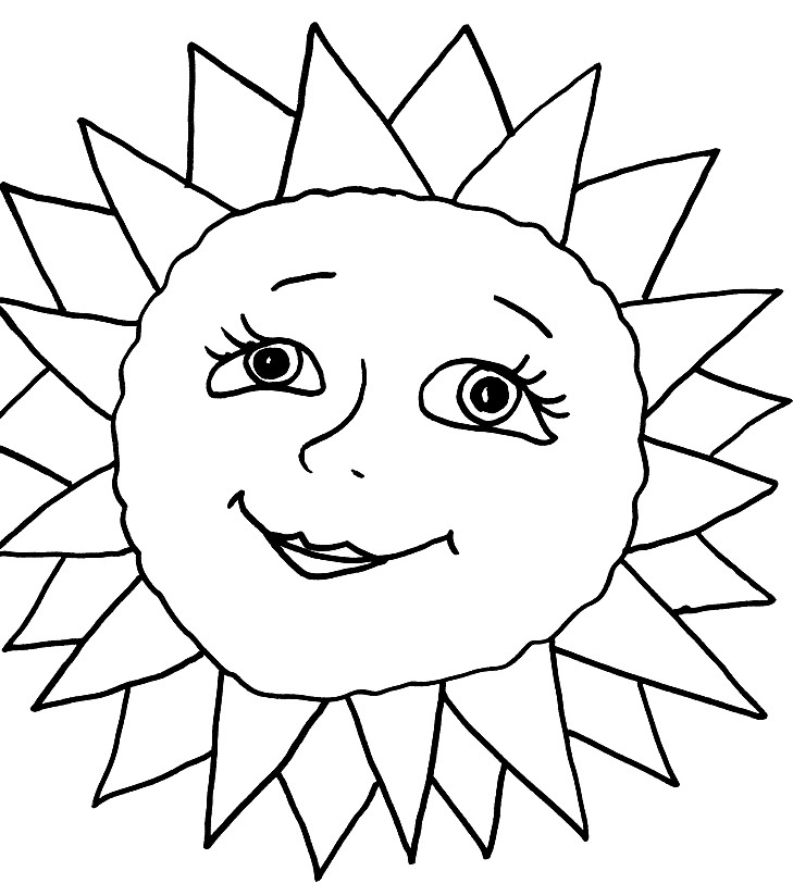 Раскраска доброе солнце