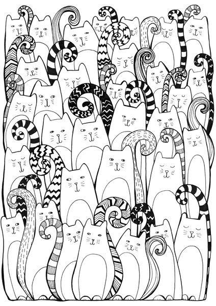 Раскраска хор котов