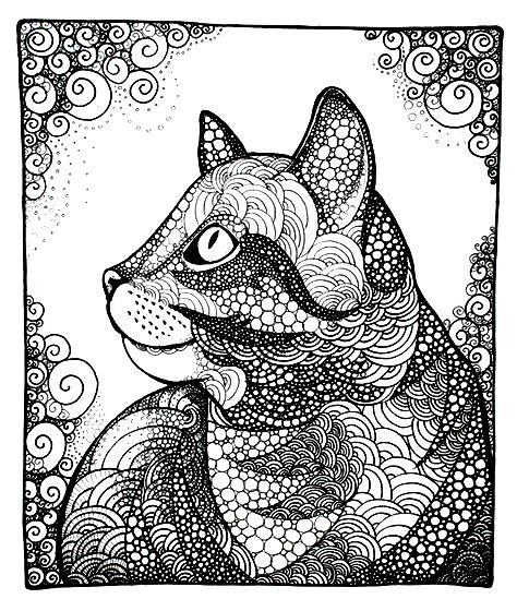 Раскраска Бухарский кот