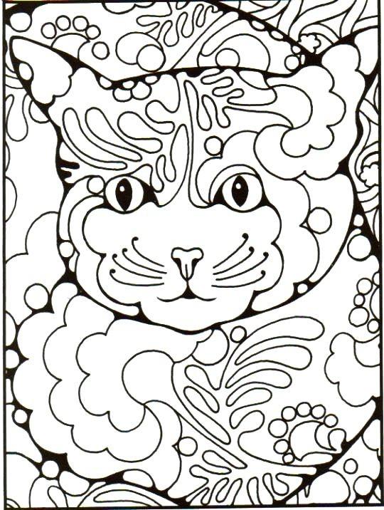 Раскраска кошачий узор