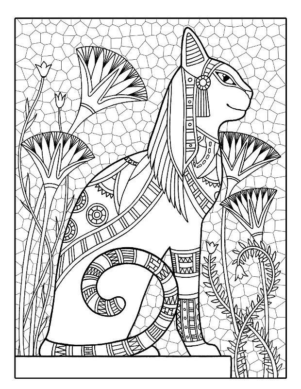 Раскраска Египетский кот