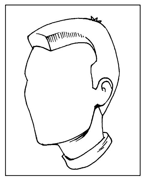 Раскраска дорисуй портрет человека
