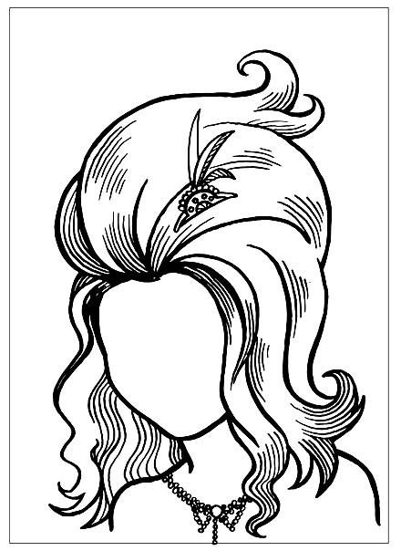 Раскраска дорисуй портрет героини из мультфильма