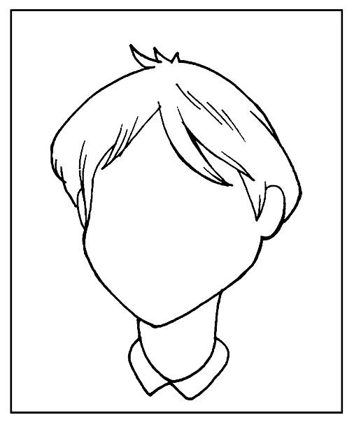 Раскраска дорисуй портрет мальчика