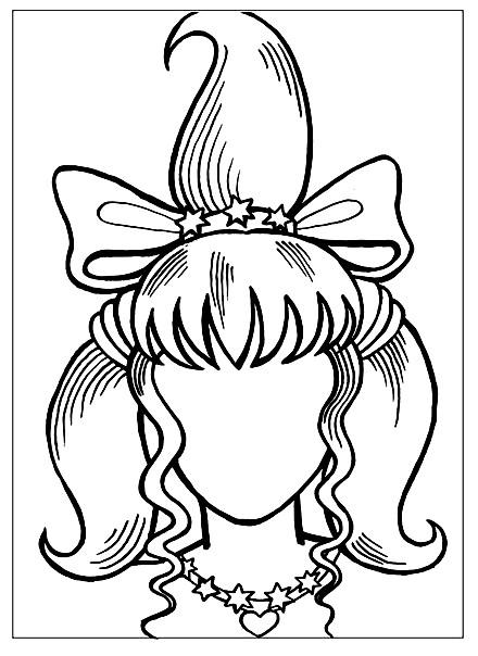 Раскраска дорисуй портрет девочки