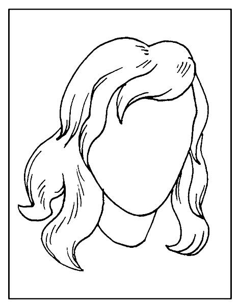 Раскраска дорисуй портрет подружки