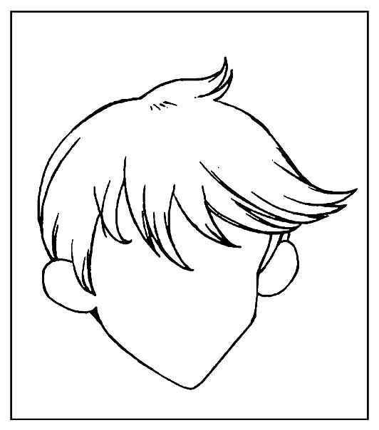 Раскраска портрет мальчика