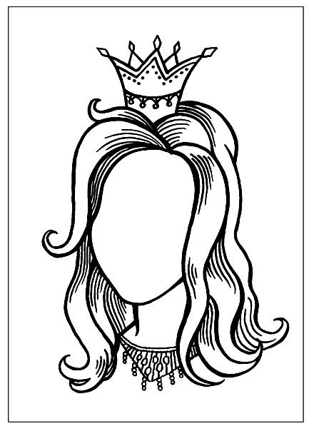 Раскраска дорисуй портрет принцессы