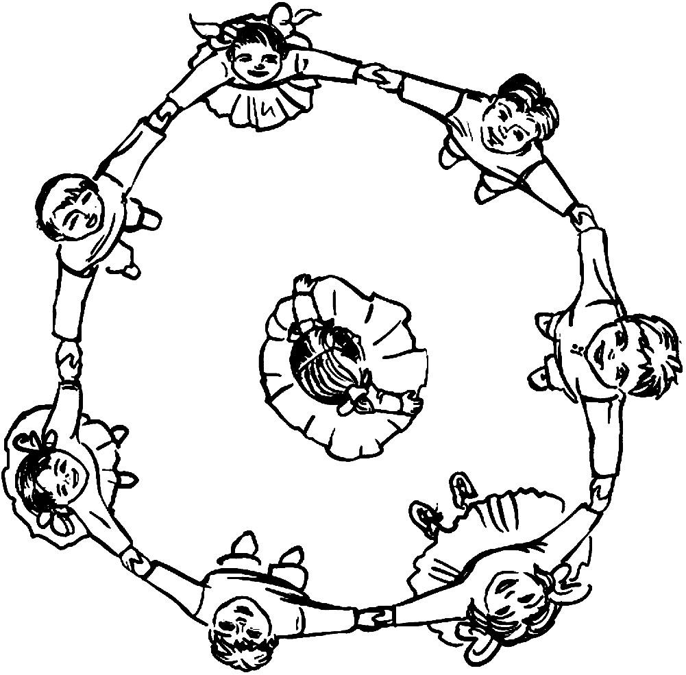 Раскраска Масленичные забавы