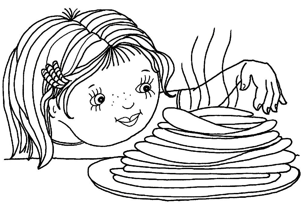 Раскраска Масленица для детей