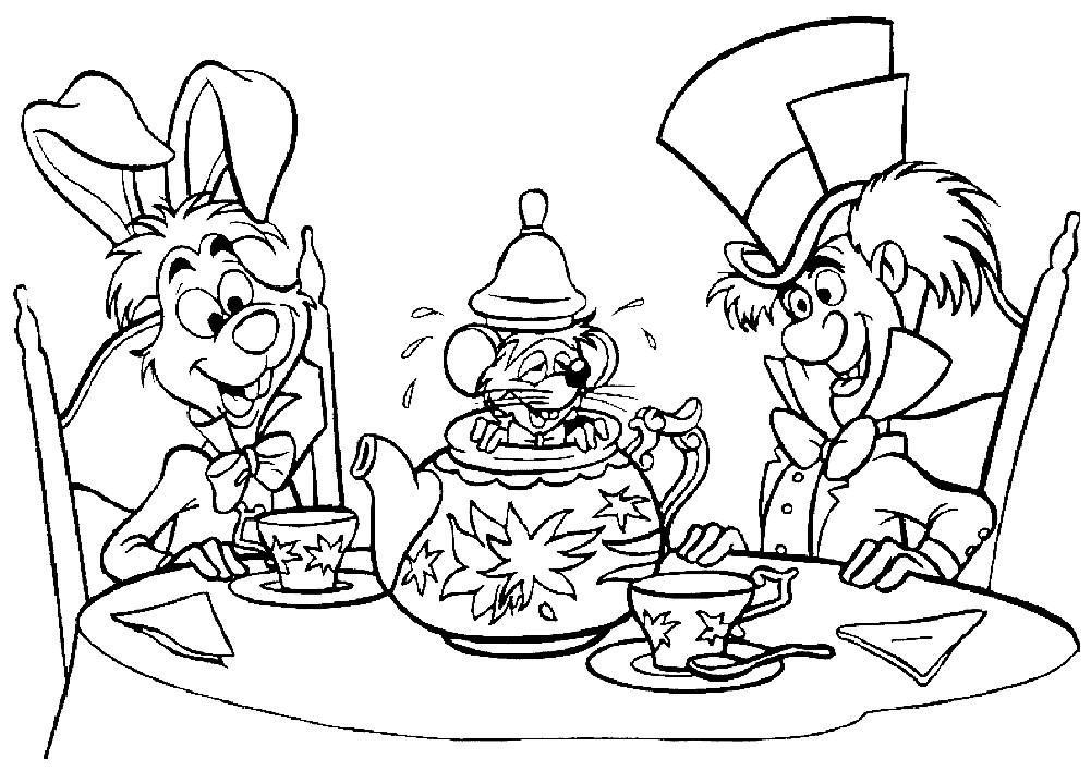 Раскраска мышь Соня и Болванщик