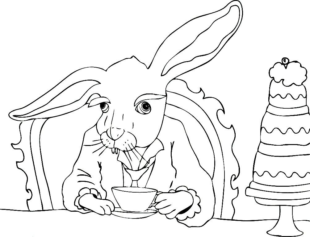 Раскраска мартовский заяц