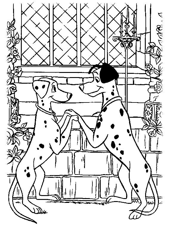 Раскраска Понго и Пэдди