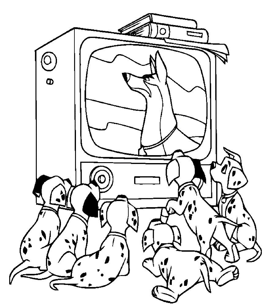 Раскраска далматинцы