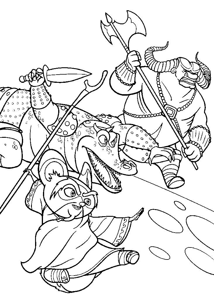 Раскраска сражение мастера Шифу