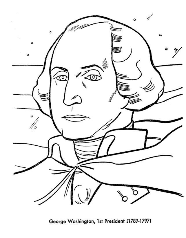 Раскраска Джордж Вашингтон