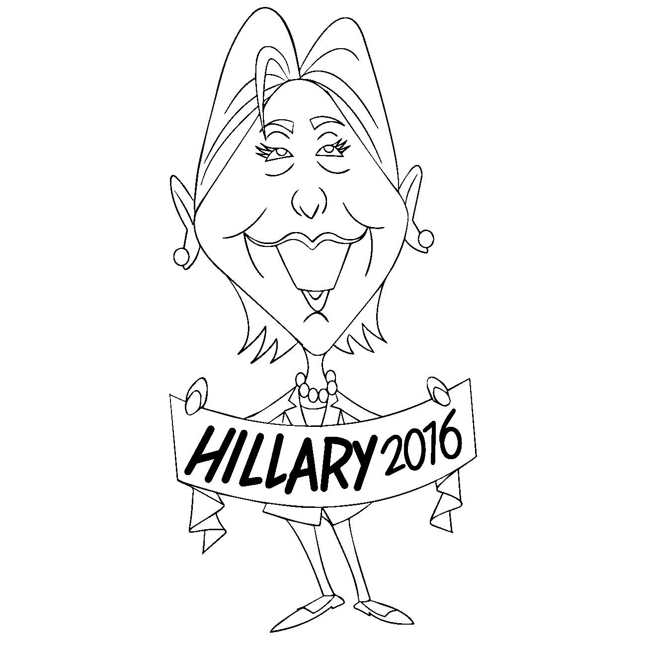 Раскраска Хиллари Клинтон 44.5-й президент США