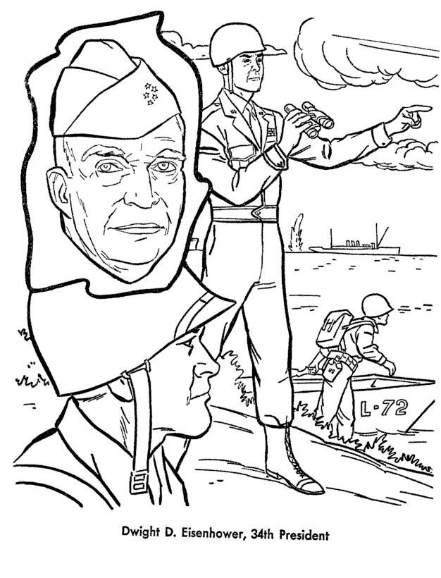 Раскраска Эйзенхауэр Дуайт
