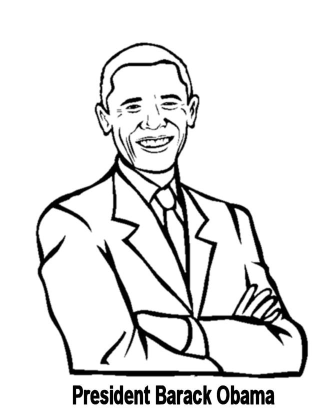 Раскраска Барак Обама