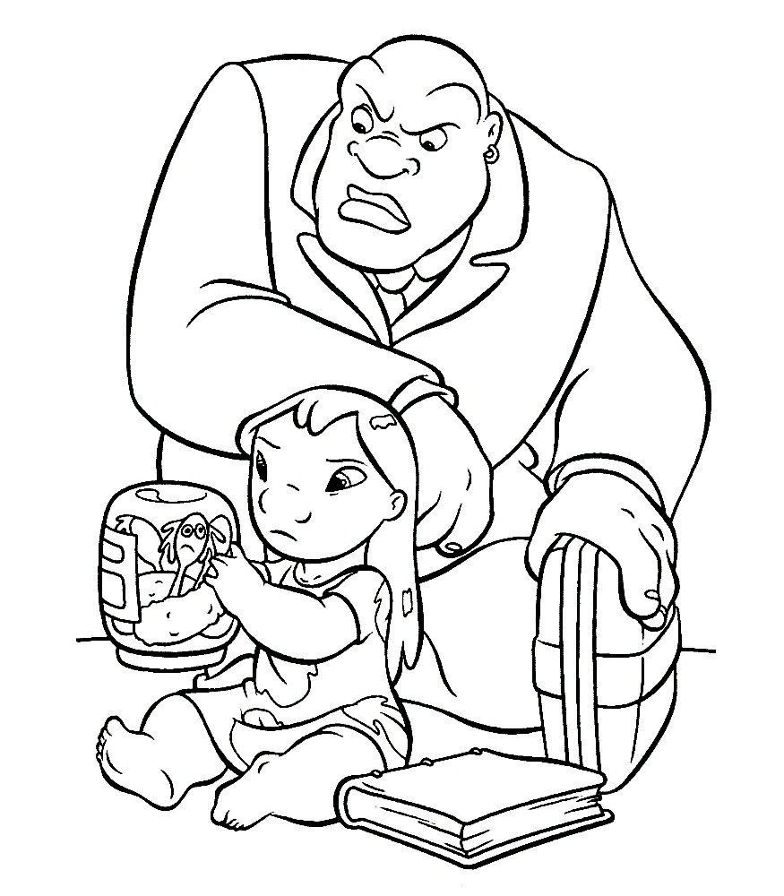 Раскраска Лило хотят забрать в детский дом