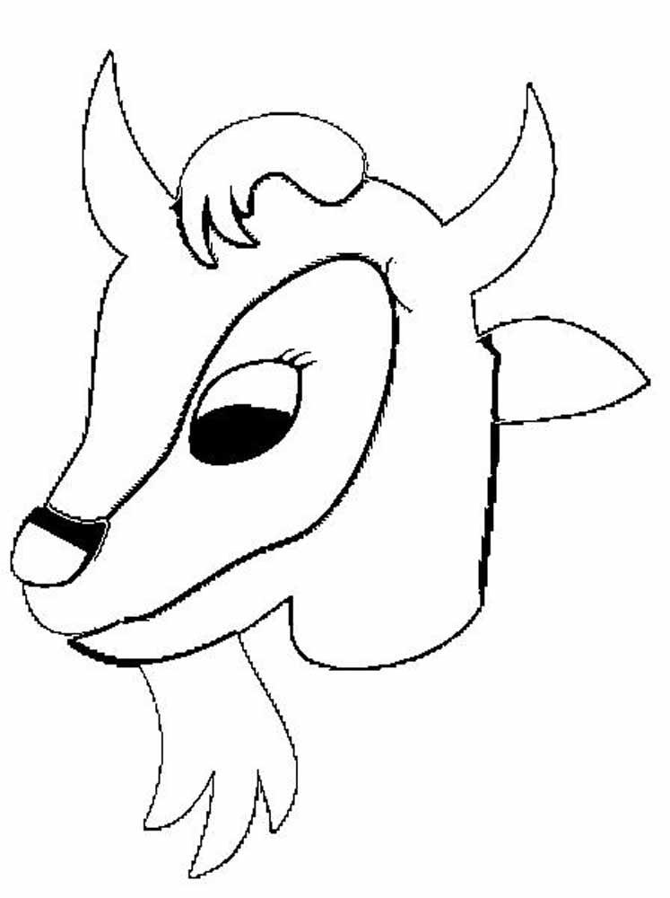 Раскраска голова козла
