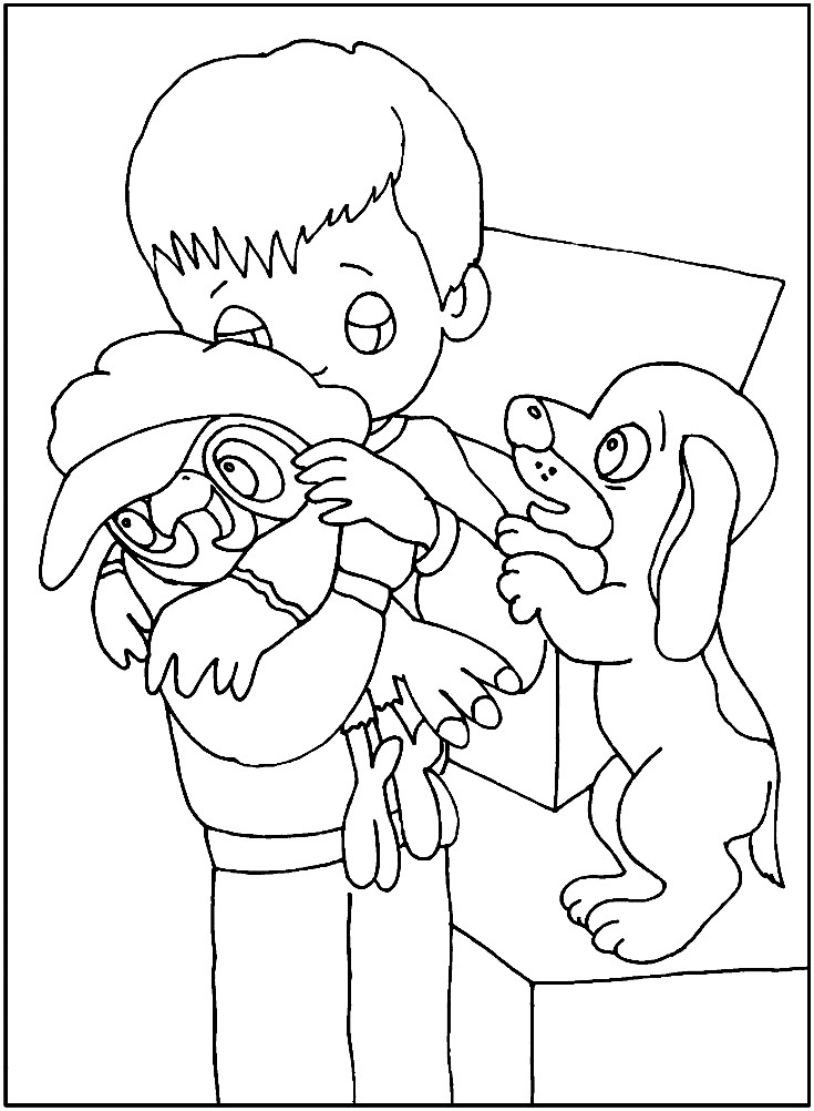 ПОПУГАЙ КЕША | Раскраски для детей распечатать бесплатно в ...