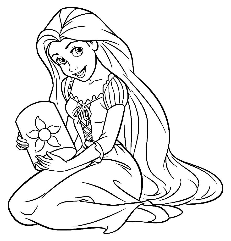 Раскраска принцесса Рапунцель