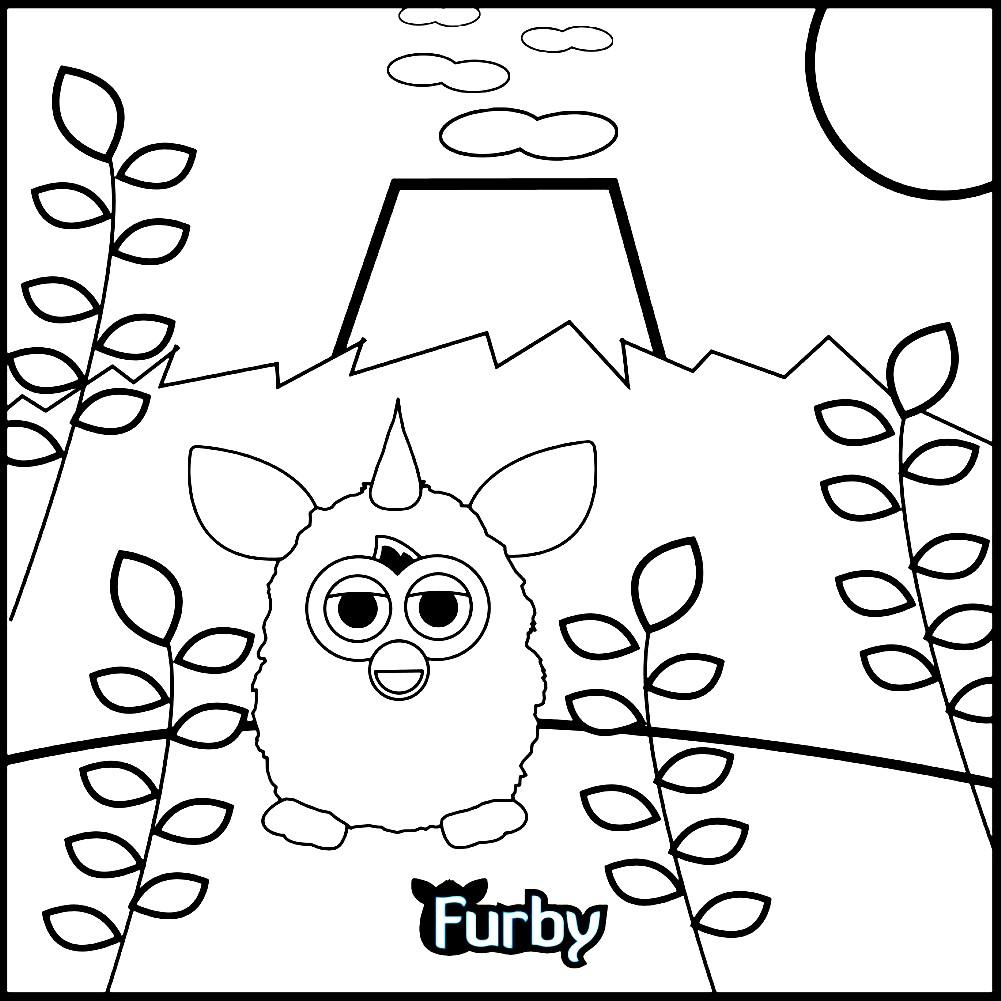 Раскраска малыш Ферби Бум