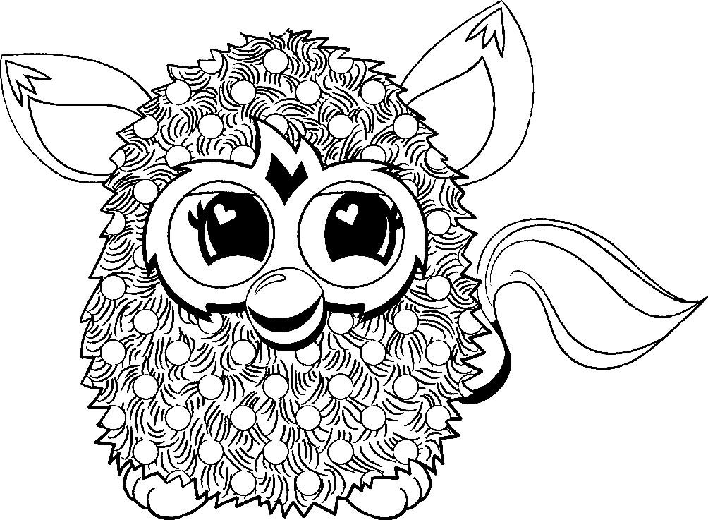 Раскраска Furby Boom