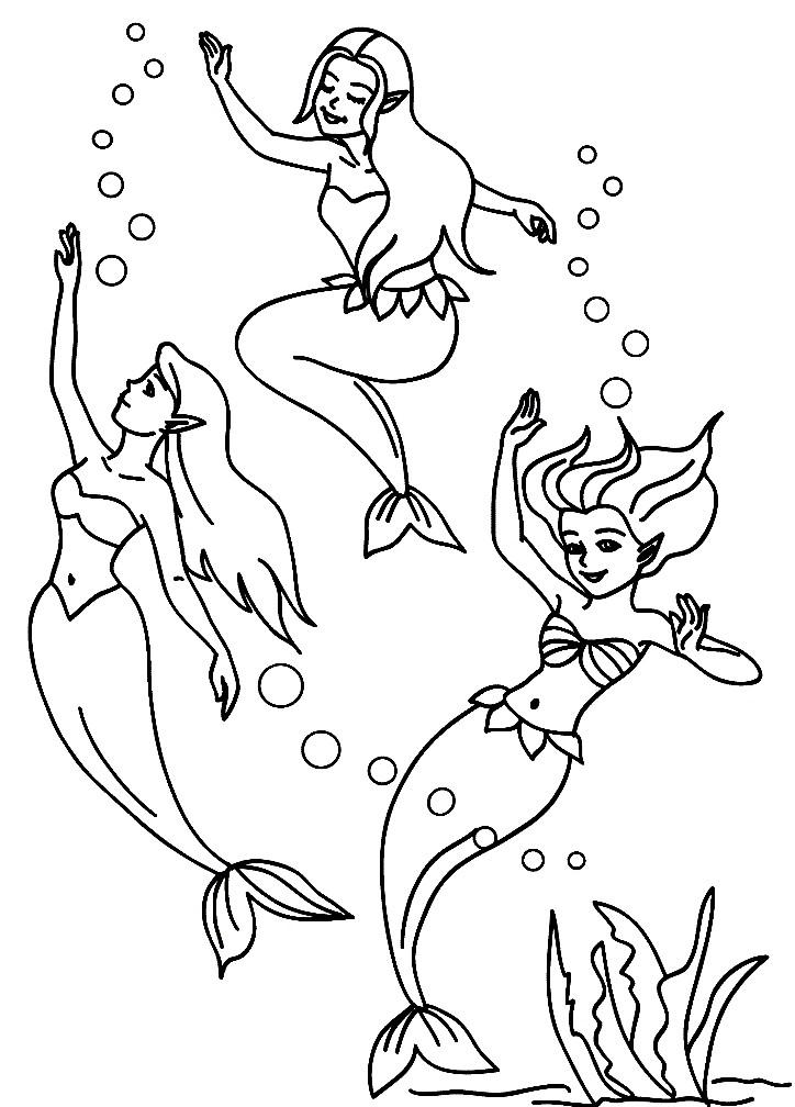 Раскраска русалки эльфы | Раскраски для детей распечатать ...