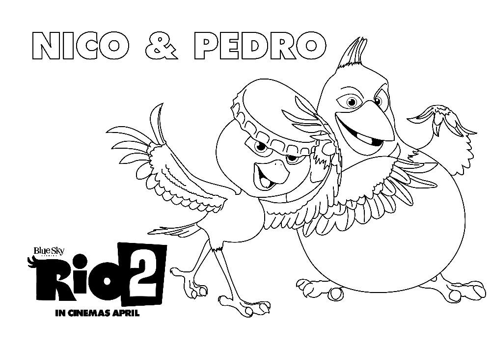 Раскраска Нико и Педро