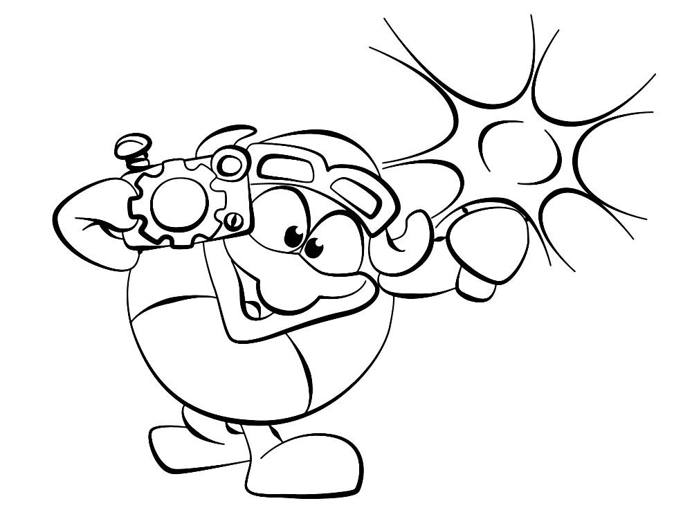 Раскраска Пин из Смешариков | Раскраски для детей ...