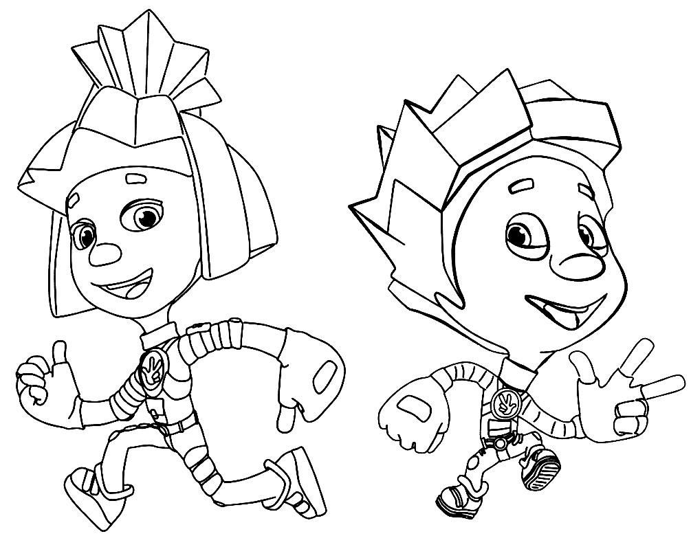 Раскраска Симка и Нолик | Раскраски для детей распечатать ...