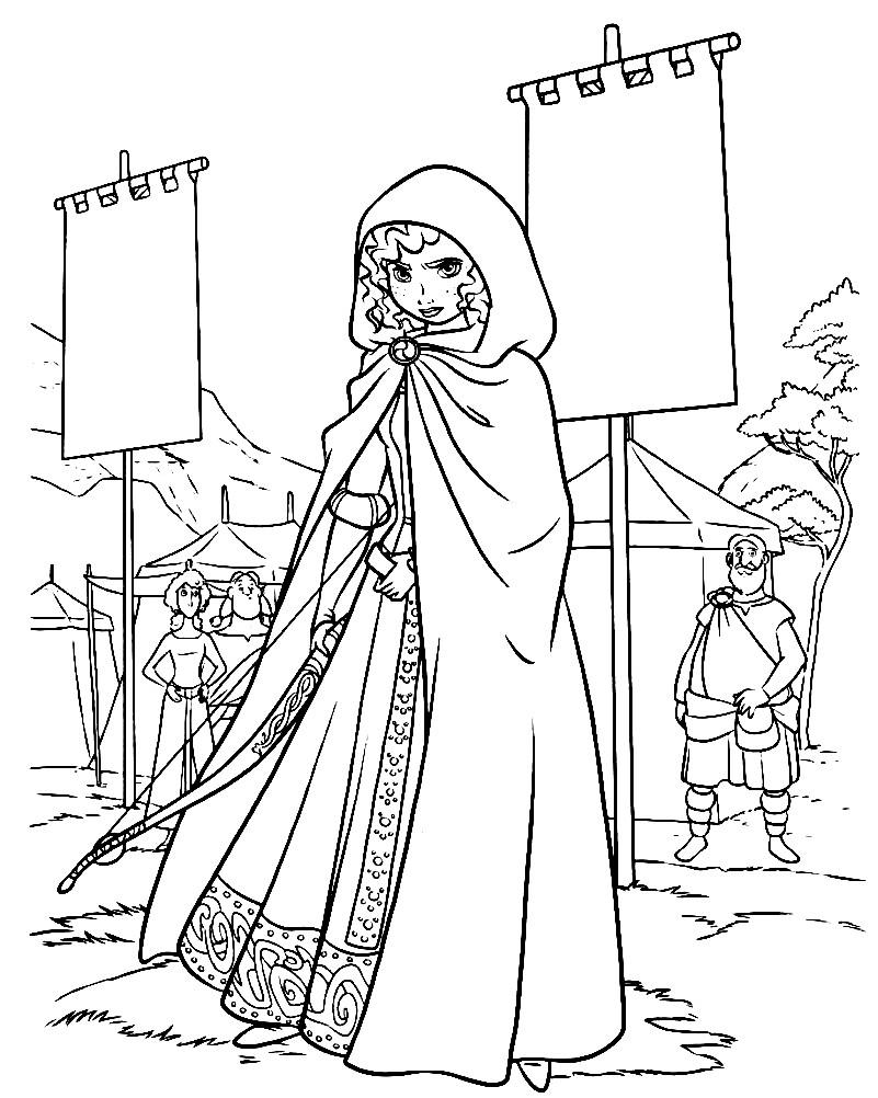 Раскраска храбрая Мерида