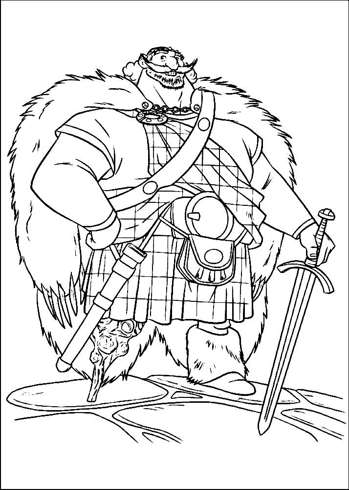 Раскраска король Фергус