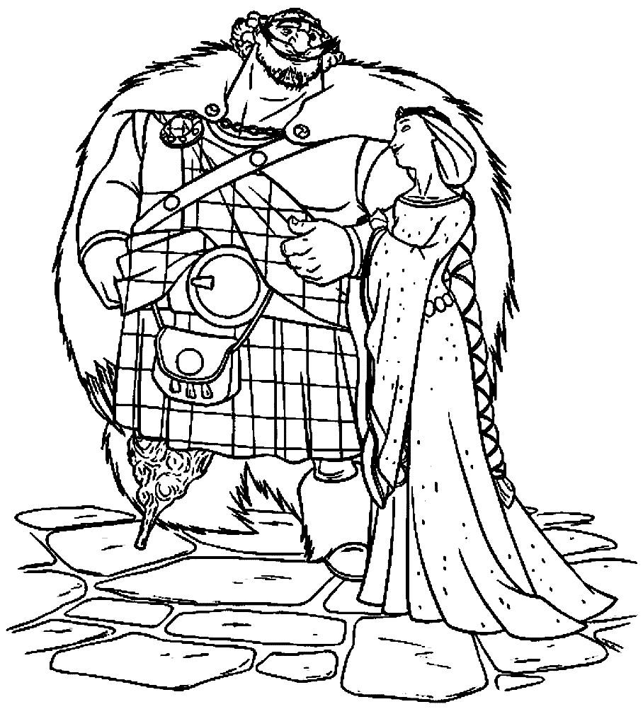 Раскраска король и королева