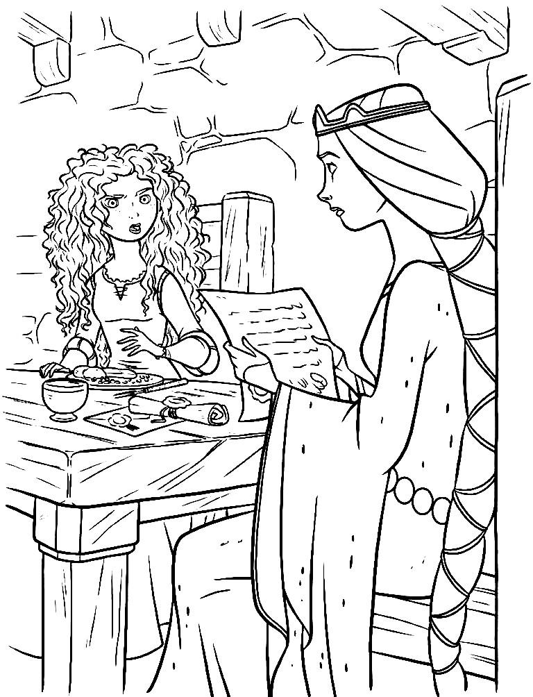 Раскраска Мерида и королева